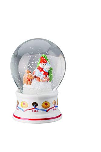 Hutschenreuther Schneekugel, Porzellan, Dekoriert, 12 cm