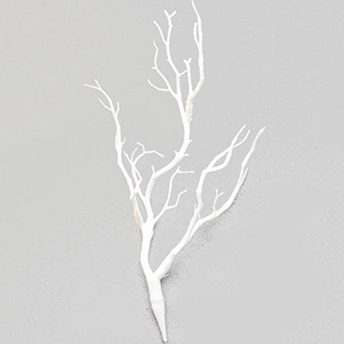 Woopower, albero artificiale, confezione da 2 rami da 35 cm, in plastica. piccolo albero con rami secchi, per decorazioni fai da te per casa o matrimonio, plastica, white, 35cm