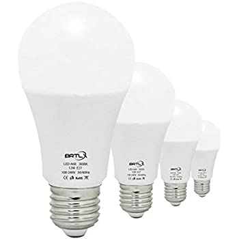 Bombilla LED Esférica Casquillo E27, 12 W, Equivalencia 100 W, Blanco Cálido 3000K, 960 Lúmenes, No Regulable, Pack de 4 Unidade