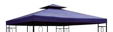 Pavillon Ersatzdach 3x3 Meter - blau - wasserdicht / Kaminabzug - Pavillondach