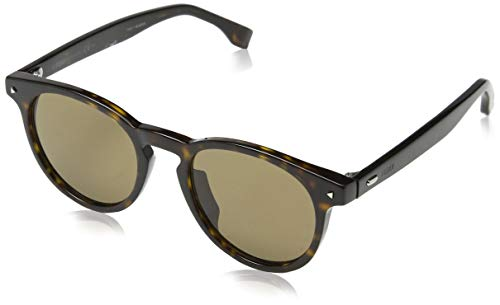 Fendi ff m0001/s 70 086 49, occhiali da sole uomo, marrone (dark havana/bw brown)
