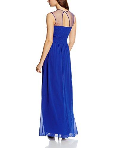 Little Mistress Embellished Shoulder And Drape Front Maxi Dress - Robe - Femme Bleu (Blue)