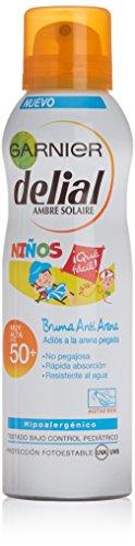 Garnier Delial Sensitive - Spray Antiarena para Niños, SPF50, 200 ml