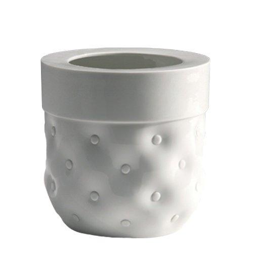 Industreal vase capitonne vaso in porcellana bianca smaltata