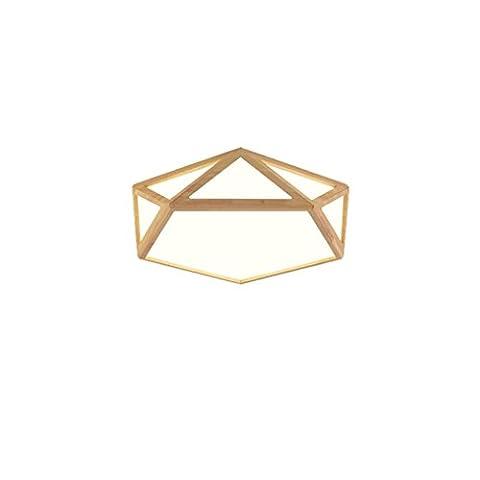 TMY Nordic LED Deckenleuchten, kreative Persönlichkeit Deckenleuchten dekorative Lichter, Gummi Holz Schlafzimmer Study Zimmer Wohnzimmer Innenbeleuchtung Deckenleuchte ( Color : Neutral light-58*14cm-30W (Stern Klar Deckel)