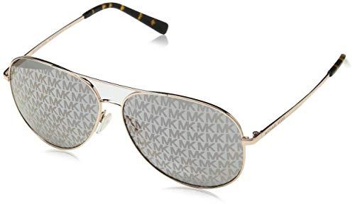 Michael Kors Unisex-Erwachsene KENDALL 1026R0 60 Sonnenbrille, Shiny Rose Gold/Lavendarprintedmirror,