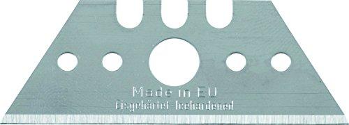 kwb Trapezklingen für Teppichmesser 024106 (6 Stück, Extrem Scharf, 52 x 19 x 0, 5mm, in praktischer Spenderbox)