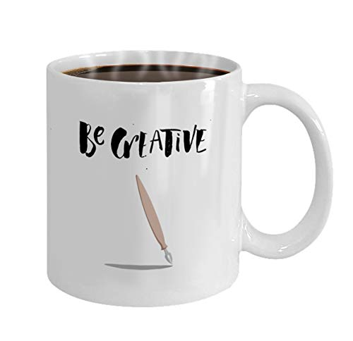 Mothers/Fathers/Sons/Daughters Gifts Tea/Coffee/Wine Cup 100% Ceramic 11-Ounce White Mug a positive word calls for action be creative phrase for motivation for a poster for a printing t shi -