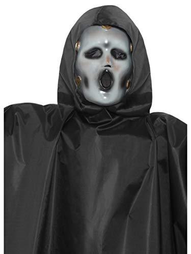 Fancy Ole - Kostüm Accessoires Zubehör Herren Männer Scream TV Maske, perfekt für Karneval, Fasching und Fastnacht, Weiß