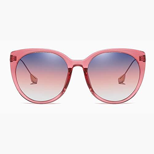 WULE-Sunglasses Unisex New Frau Polarisierte Sonnenbrille Transparente Mode Großen Roten Rahmen Brille UV400 Schutz Stern Dekoration Tempel Verlaufsgläser