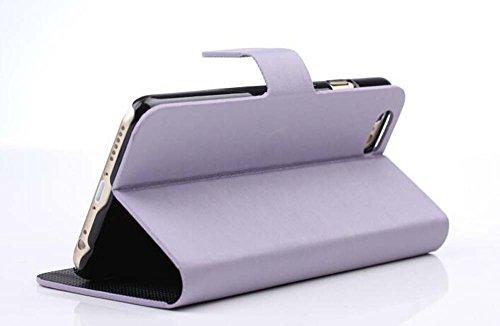 CATOE Luxus PU Leder glatte Flip Case Wallet Magnet Stand Cover mit Kartenschlitzen für Apple iPhone 611,9cm Light Purple