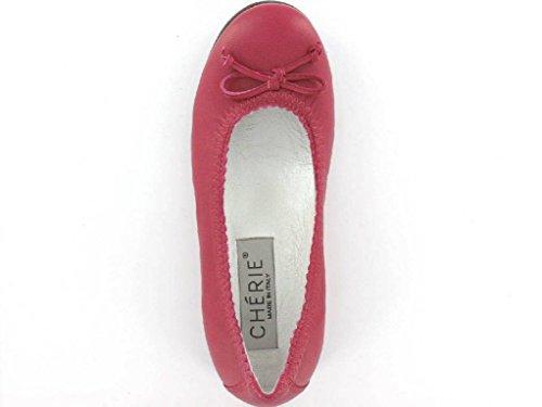Chérie 7681 fuxia Mädchen Ballerina in Schmal Pink