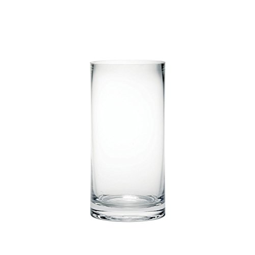 Jarrón cilíndrico cristal transparente flores, 20