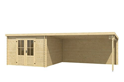 Gartenhaus- blockbohlenhaus-grundflaeche-pultdach