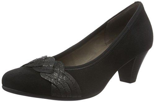 Gabor Shoes Basic, Scarpe con Tacco Donna, Nero (Schwarz 17), 40 EU