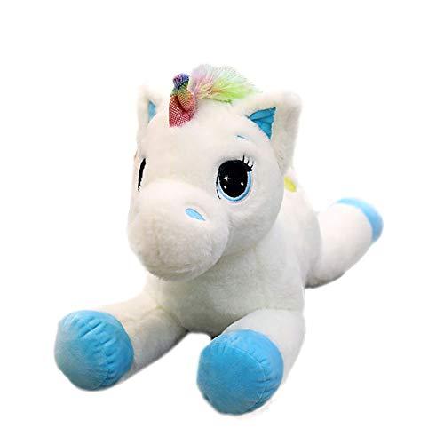 Georgie Porgy Niños Peluche Unicornio de Peluche Animal Mullido Almohada Almohada cojín Regalos para niña (Azul)