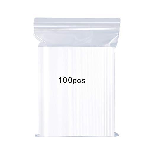 meridy Wiederverschließbare durchsichtige Plastiktüten,versiegelte Aufbewahrungsbeutel,Verdickung und Haltbarkeit, Pressenversiegelungsbeutel,gelten Küchenspeicher, Schmuckverpackungen,13x19cm 100PCS
