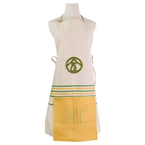 Uhrtimee Schürzen Küchenschürze Pastoralen Stil Stickerei Code Ärmellose Schürze Original Designer Lu Stickerei Stoff Nach Hause Einfache Japanische Chef Kleid