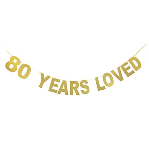FunPa Geburtstagsbanner 60th 70th 80th Jahre Years Love Brief Banner Partei Banner Dekor