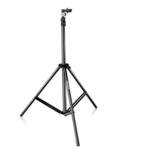 Neewer Fotostudio Lichtständer mit Hintergrund und Reflektor Halter Klammer 2m Aluminiumlegierung Mini Table Top Licht Ständer für Video Portrait und Fotografie Beleuchtung