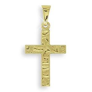 Viennagold Kreuz Anhänger 14 Karat Gold 585 (Art.203092) GRATIS-SOFORT-GRAVUR