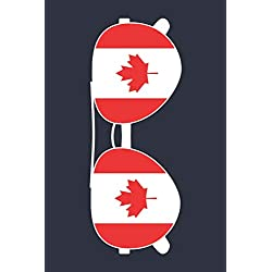 Canada Notebook 'Canada Sunglasses' - Holiday Planner - Canadian Flag Diary - Canada Travel Journal: Medium College-Ruled Journey Diary, 110 page, Lined, 6x9 (15.2 x 22.9 cm)