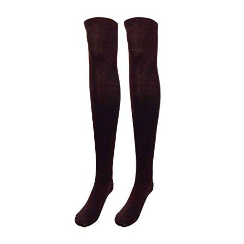 Minzhi M?dchen Over Kniestr¨¹mpfe Oberschenkel Hohe Dicke Stripe Stocking