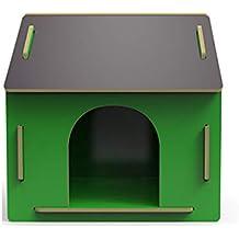 Caseta para Mascotas Nido de Madera al Aire Libre en una Perrera Grande. Casa de