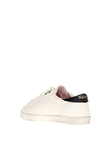 Superdry Women's Women's Super Sleek White Low Top Sneakers Polyester White