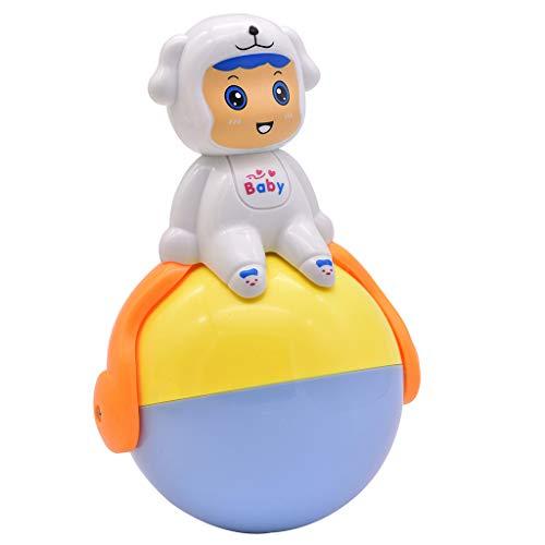 Plüsch Bildung Squishy Spielzeug aufblasbares Spielzeug im Freien Spielzeug,Kinder-Meerespflanzen-Schwein-Karikatur-Trommel-Spielzeug-Säuglingsinduktions-Ton und Licht-Sturz ()