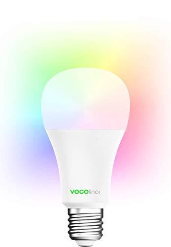 VOCOlinc L3 - Lampadina LED Smart, Funziona con Apple HomeKit, Alexa e Google Assistant, 16 Milioni di Colori, Nessun HUB Richiesto, Attacco E26/E27, Dimmerabile 2200K-7000K