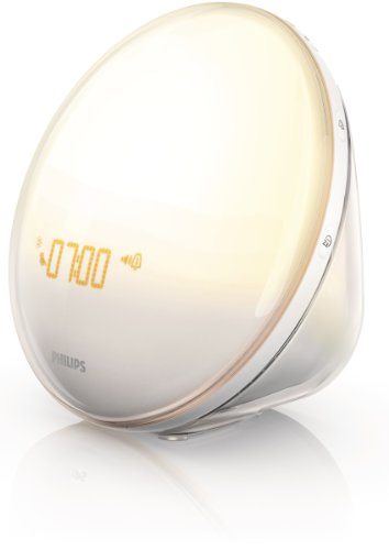 Philips HF3520 Wake-Up Light With Colored Sunrise Simulation, White (Philips Wake-up Von Light)