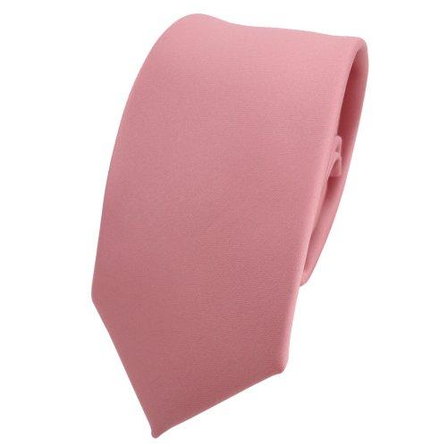 TigerTie - corbata estrecha - rosa oscuro viejo-rosa monocromo poliéster