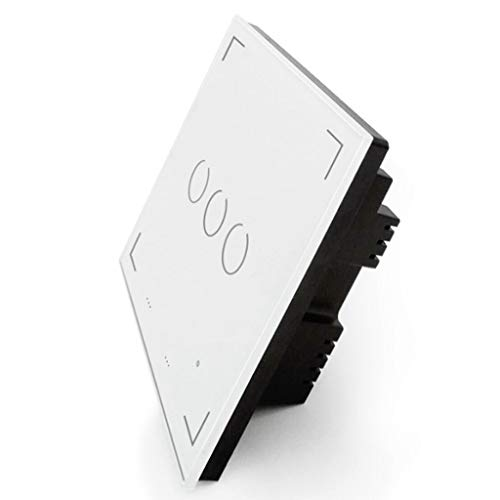 DONGBALA Interruptor Táctil LED Interruptor WiFi de Pared Luz de Cristal táctil...