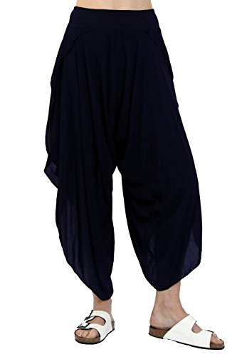 urban-mist-split-side-harem-pant-trousers-one-size-navy