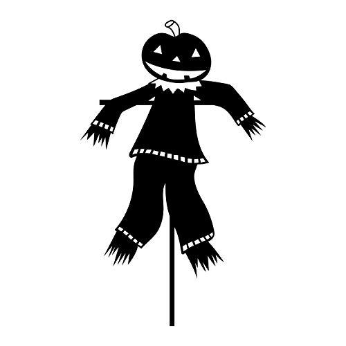 Wandaufkleber aus Vinyl, Motiv: Kürbiskopf, Vogelscheuche - 91,4 x 55,9 cm - Happy Halloween Season Dekoration Aufkleber - Kinder Teenager Erwachsene Innen Außen Wand Fenster Wohnzimmer Büro Decor (Halloween Getränke Dekorationen)