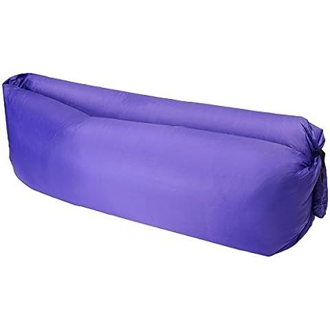 Rápido inflable durmiendo tumbona aire camping sofá portátil playa nylon silla perezosa -