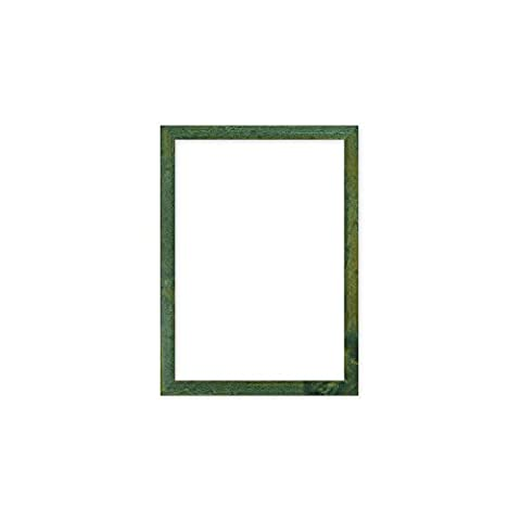 Confetti Wood Frame Range 20 mm Picture/Photo/Poster frame - With an MDF backing board - Ready to hang or stand - With a High Clarity Styrene Shatterproof Perspex Sheet - Green Frame - 7