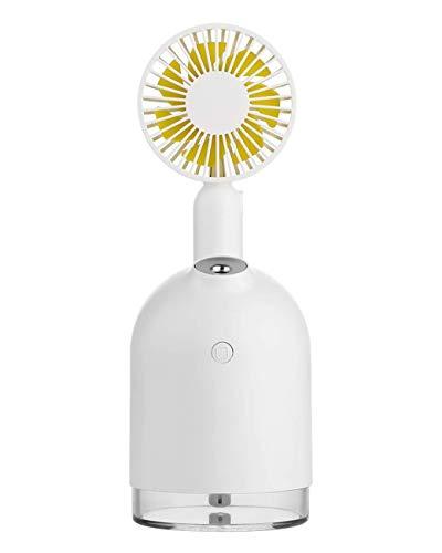 AMhuui Ventilador de nebulización portátil Portátil, USB Recargable Ventilador de Escritorio Facial...