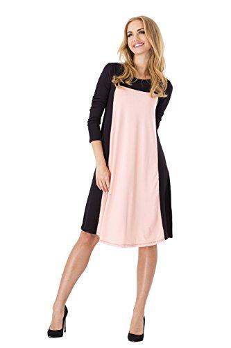 AE -  Vestito  - Maniche lunghe  - Donna Lachs-Schwarz