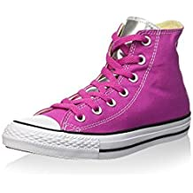 Converse Zapatillas abotinadas All Star Hi Canvas/Metal Silve Fucsia EU 39.5 (US 8.5)