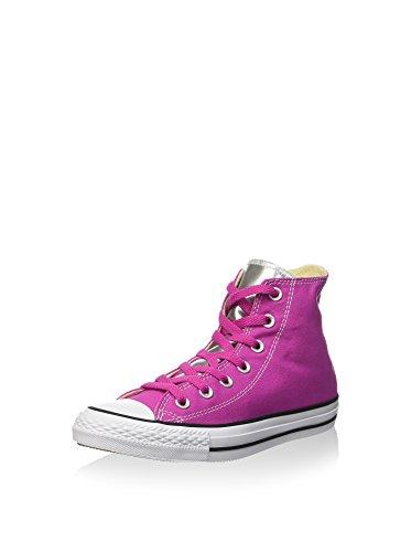 Converse - Converse All Star Chuck Taylor Hi Scarpe Sportive Donna Fuxia Argento viola