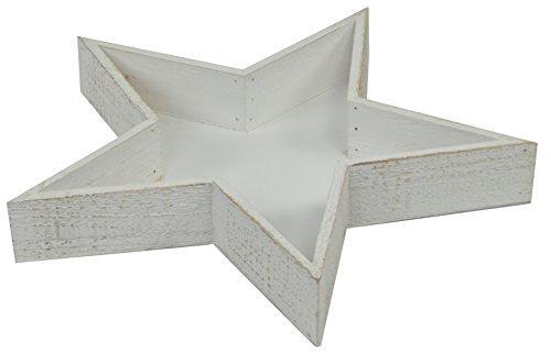 Legno Bianco Vintage : Stelle legno vintage vassoio cm bianco slavato stile