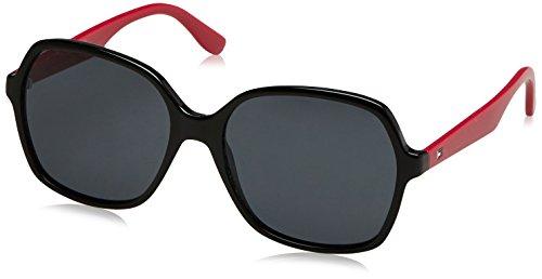 Tommy Hilfiger Damen Sonnenbrille TH 1490/S IR 807 57, Schwarz (Black/Grey Blu) Preisvergleich
