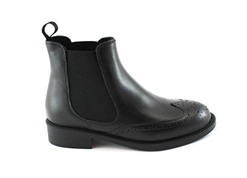 FRAU 98P7 chaussures noir femme bottines en cuir anglais beatles