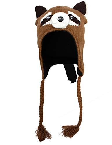 Daniel Boone Kostüm - Sonia Originelli Kinder Mütze Tiere Motive