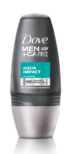 Dove Men+Care Aqua Impact Deo Roll-On, 6er-Pack (6 x 50 ml) -