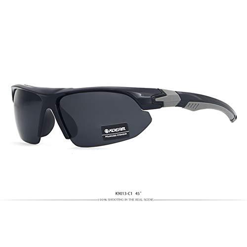 WTACK Halb Gerahmte Sportsonnenbrille Im Freien Polarisierte Herren-Sonnenbrille Intelligentes Design Zur Anpassung An Ihre Gesichtskurve