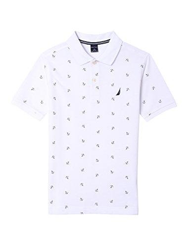 Nautica Jungen Polo Hemd - weiß - Small (Weißes Hemd Jungen Nautica)