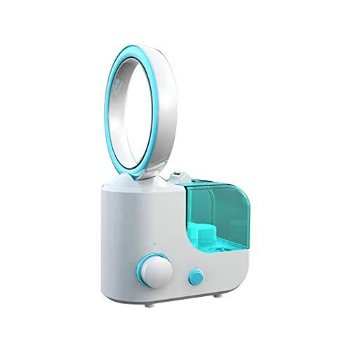 CAOQAO Ventilateur sans Lame Refroidisseur D'Air De Humidificateur,Multifonction Portable USB Ventilateur,Mise À Jour Ventilateur sans Lame,pour Maison Bureau Campus,Bleu